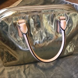 Micheal Kors gold purse